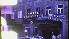 Stock Video Footage of LEXINGTON Kentucky Street Scene HOTEL People 1950s Vintage Film Home Movie 4012