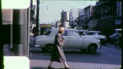 MAIN STREET USA LEXINGTON Kentucky Scene 1950s Vintage Film Home Movie 4013 - stock footage