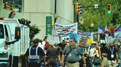 Protest in charlotte democratic national convention 2012 2 Stock Footage