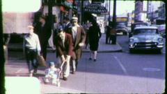 Downtown LEXINGTON Kentucky Street Scenes 1950s Vintage Film Home Movie 4014 - stock footage