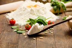 ingredients for homemade ravioli - stock photo