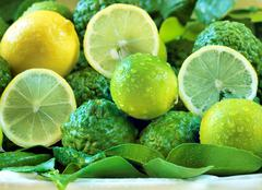 Fresh juicy fruits Stock Photos