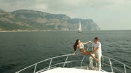 Luxury Yacht Vacations Stock Footage