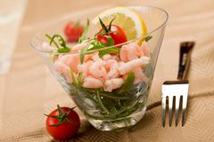 Stock Photo of shrimps cocktail appetizer