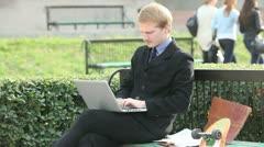 Businessman working Stock Footage