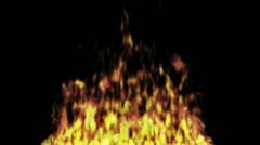Animated fire with alpha 4 Stock Footage