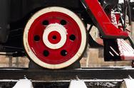 Stock Photo of locomotive wheel