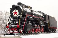 Stock Photo of old soviet locomotive