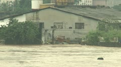 River In Full Flood After Monsoon Rains Stock Footage