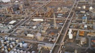 Aerial view Industrial refinery North America, Stock Footage
