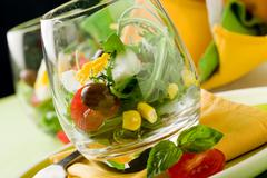 Stock Photo of mixed salad inside a glass
