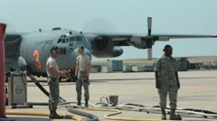 US Air Force c130 (HD) c Stock Footage
