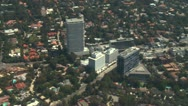 Stock Video Footage of Aerial, Hollywood Sunset Strip