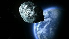 Asteroid flies to the Earth Stock Footage