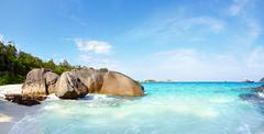 boulders and ocean - stock photo