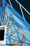 Cable on the deck Stock Photos