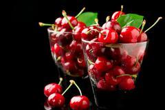 cherry cocktail - stock photo