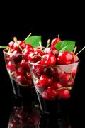 cherry cocktail - stock photo