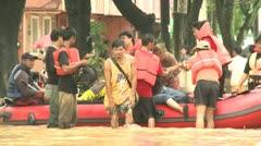Rescue Team In Flood Crisis Manila Philippines Stock Footage