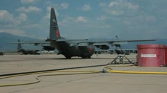 Rear of US Air Force C130 (HD) c Stock Footage