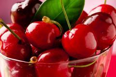 cherry cocktail 3 - stock photo