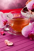 Orchid tea Stock Photos
