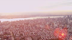 Aerial view Upper East side, New York Stock Footage