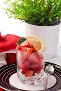 Stock Photo of strawberries with lemon