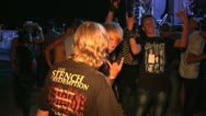 Viewers at a rock festival Stock Footage