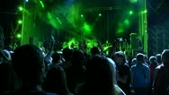 Stock Video Footage of viewers at a rock festival