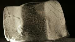 Melting block of ice 1 PAL Stock Footage