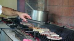 Barbecue Outdoor Kitchen Stock Footage