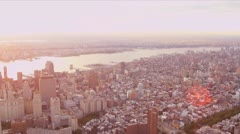 Aerial view Upper East side, New York city apartments - stock footage