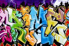 Street art, urban grafitti on wall Stock Illustration