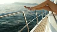 Beauty on Luxury Yacht Stock Footage