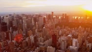 Stock Video Footage of Aerial view at sunset of Central Park, New York