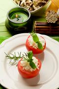 Stock Photo of stuffed tomatoes with rice