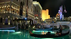 The Venetian hotel and casino in Las Vegas Stock Footage
