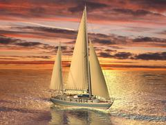 Stock Illustration of Sailing boat
