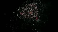 Firework streaks in the night sky Stock Footage