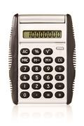electronic  calculator on white background - stock photo