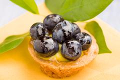 pastries with blueberries - stock photo