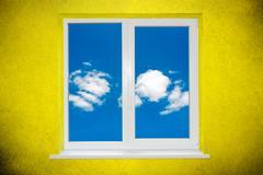 Sky in the window Stock Photos