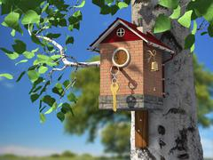 Elite birdhouse Stock Illustration