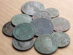 Stock Photo of ancient coins