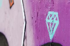 Diamond graffiti on a wall Stock Illustration