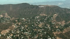 Aerial, Hollywood Hills - stock footage