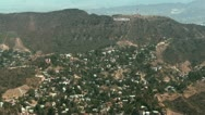 Stock Video Footage of Aerial, Hollywood Hills