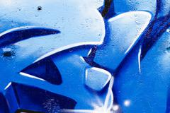 Blue urban grafitti art, spanish street Stock Illustration