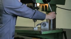 metalworker_drill_face_1 - stock footage